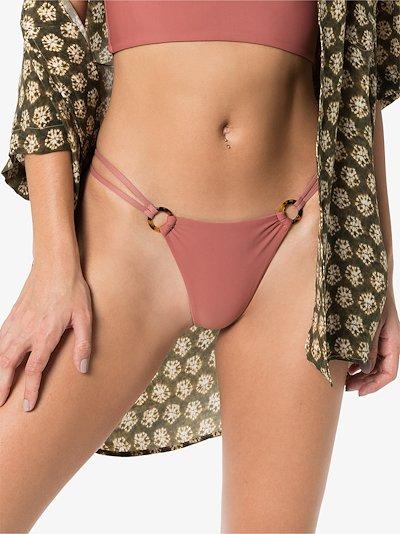 Emma ring detail bikini bottoms