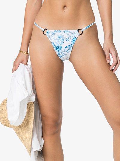 Emma wilder floral print bikini bottoms