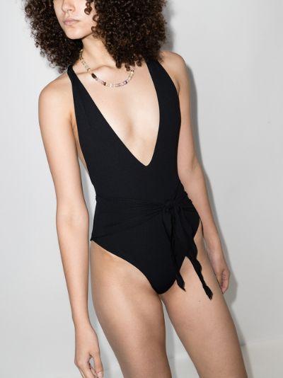 Georgia deep V-neck swimsuit