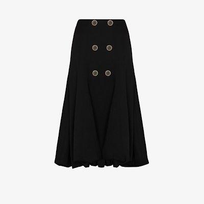 A-line wool midi skirt
