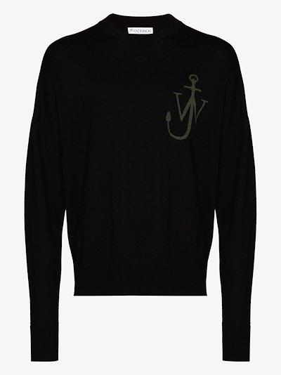 anchor logo wool sweater