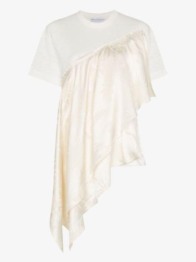 asymmetric flared T-shirt