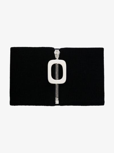 black wool neckband
