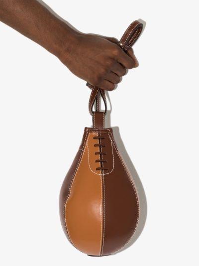 brown punch leather shoulder bag