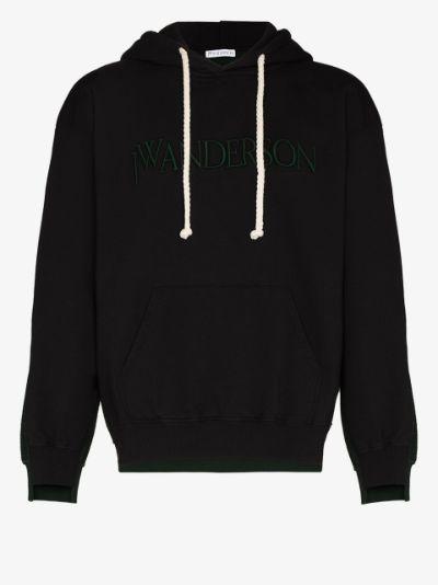 deconstructed fleece back hoodie
