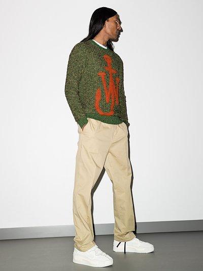 intarsia Anchor motif knit jumper