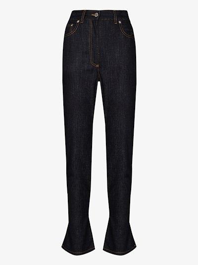 tie hem slim-fit jeans