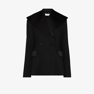wide-lapel tailored blazer