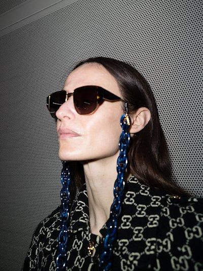 blue sunglasses chain