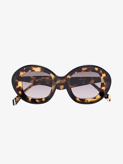 brown Arcos tortoiseshell oversized sunglasses