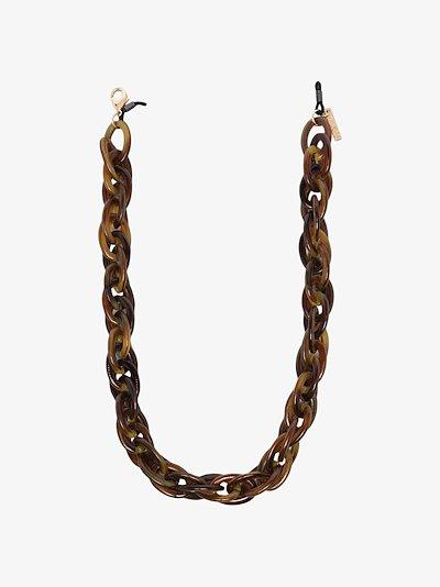brown tortoiseshell sunglasses chain