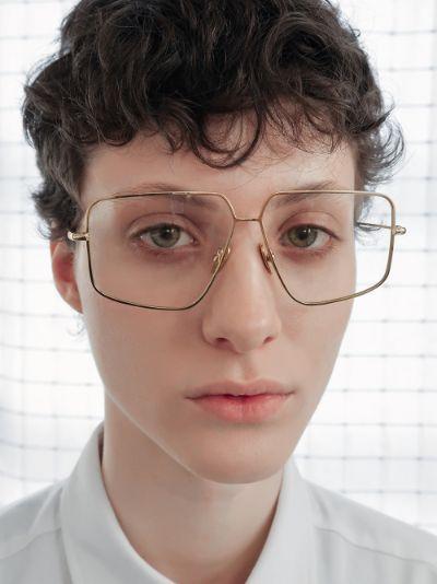 gold tone Trask optical glasses