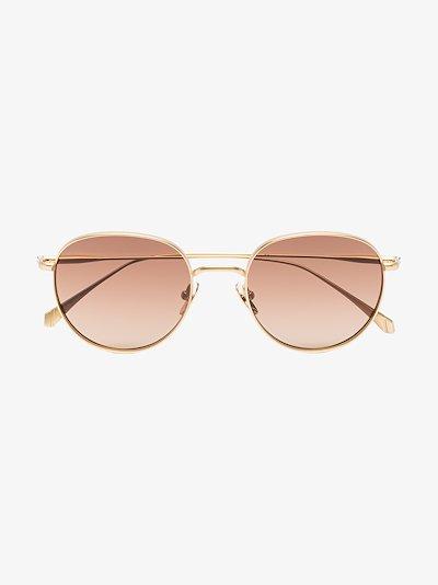 gold tone Woodcock round sunglasses