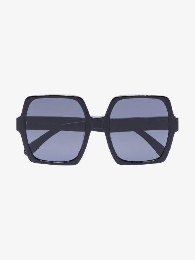 black Kaia oversized sunglasses