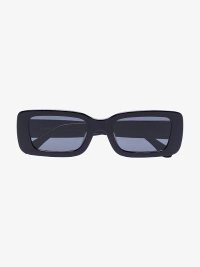 black Kenny rectangular sunglasses