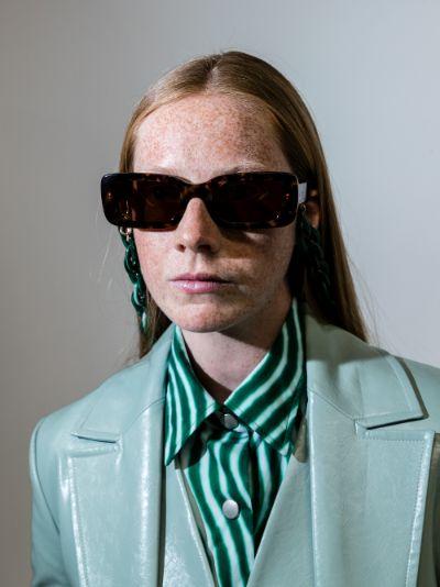 brown Kenny tortoiseshell rectangular sunglasses