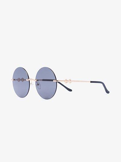 gold tone Luna round sunglasses