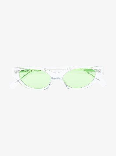 Green Glamorous cat eye sunglasses