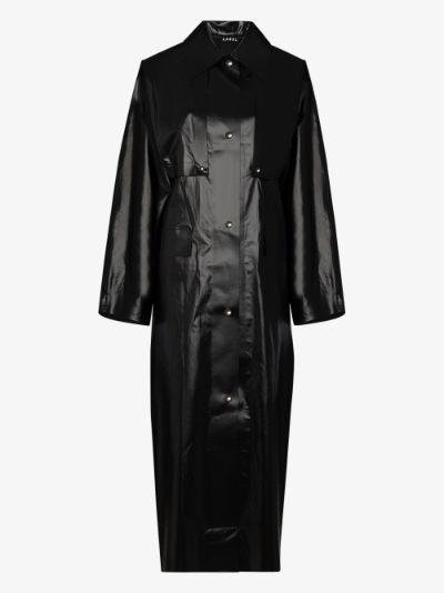 Oil trench coat