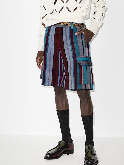 Odia striped cargo shorts