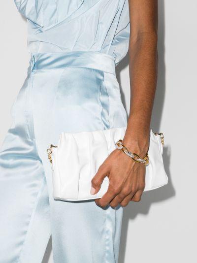gold tone crystal chain link bracelet