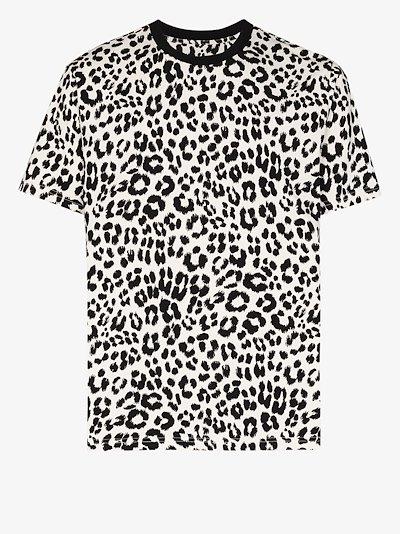 leopard print cotton T-shirt