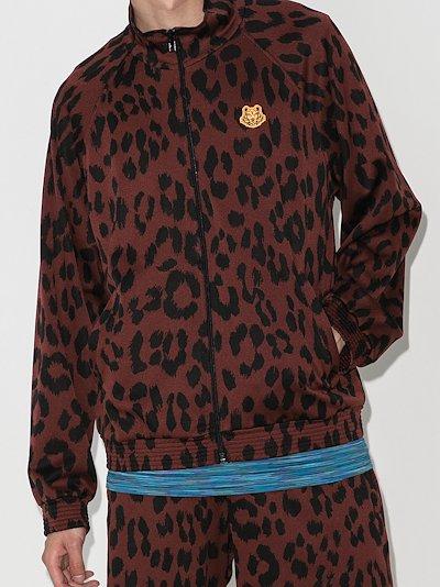 leopard print track jacket