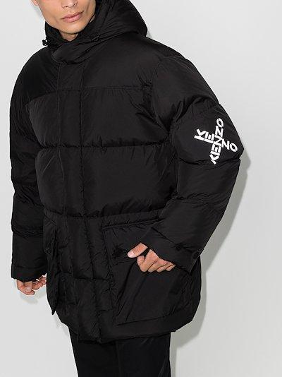 logo Hooded Padded Jacket
