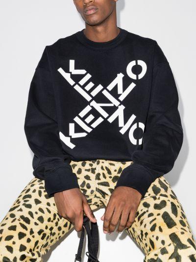 oversized logo print cotton sweatshirt