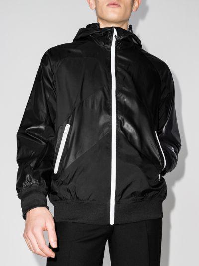 Sport zip-up hooded jacket