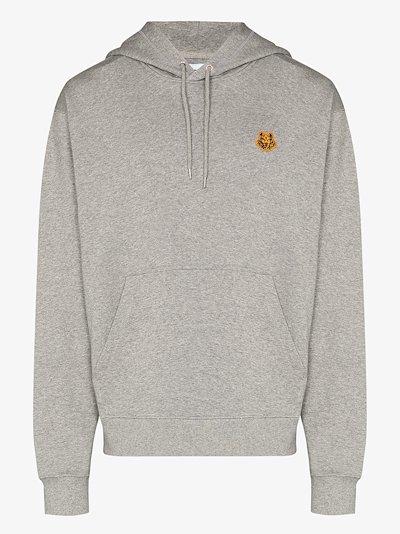 Tiger crest cotton hoodie