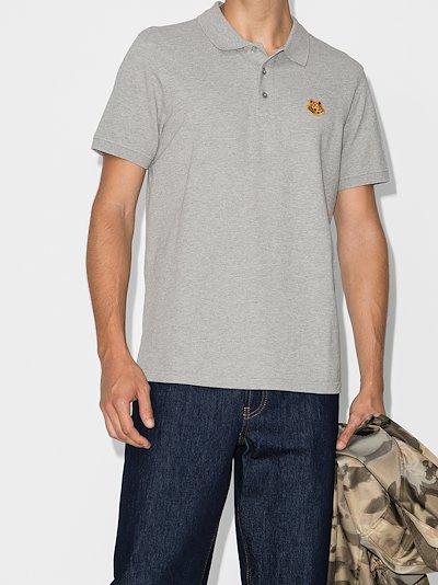 Tiger crest cotton polo shirt