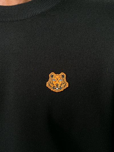 tiger patch wool jumper