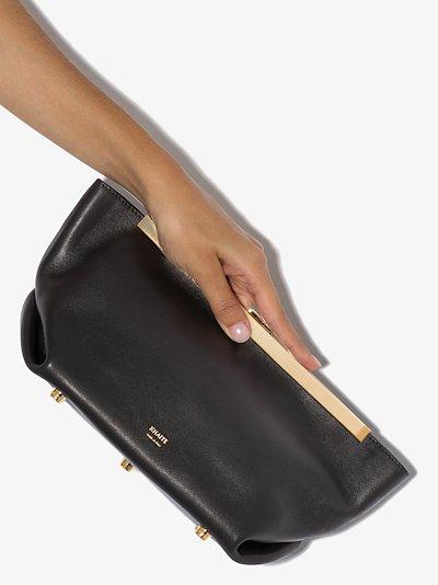 black Aimee leather clutch bag