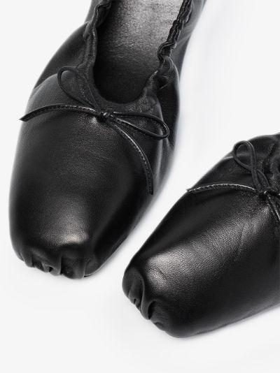 black Ashland leather pumps