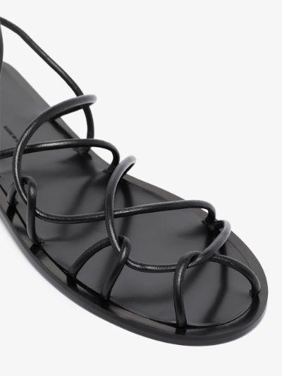 Black Lyon leather sandals