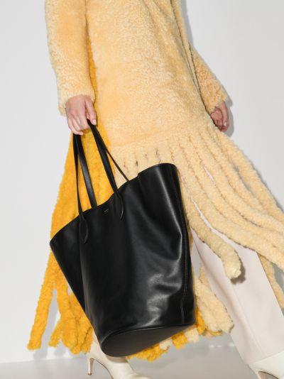 black Osa medium leather tote bag