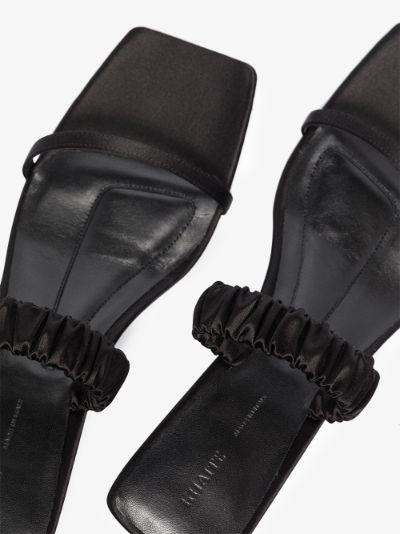 black the georgia 45 satin sandals