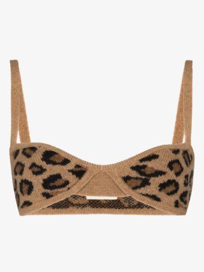 Eda leopard print cashmere bralette