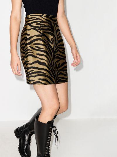 Eiko zebra print mini skirt