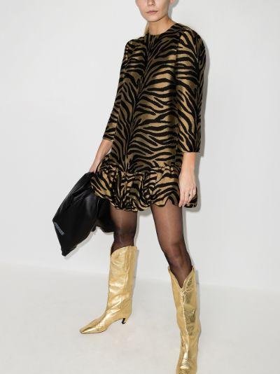 Lorie zebra print mini dress