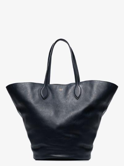 navy Osa medium leather tote bag