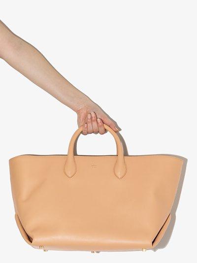 neutral Amelia medium leather tote bag