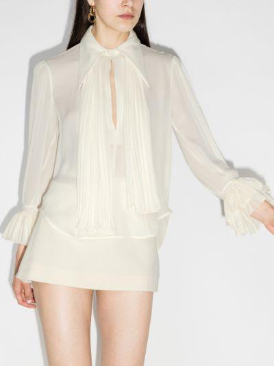 Nia ruffle silk blouse