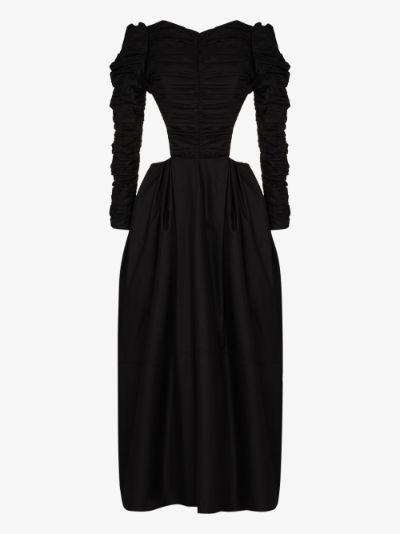 Rosaline cutout cotton maxi dress
