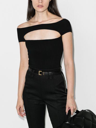 Talie off-the-shoulder cutout bodysuit