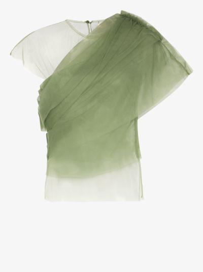X Browns 50 gianna sheer silk top