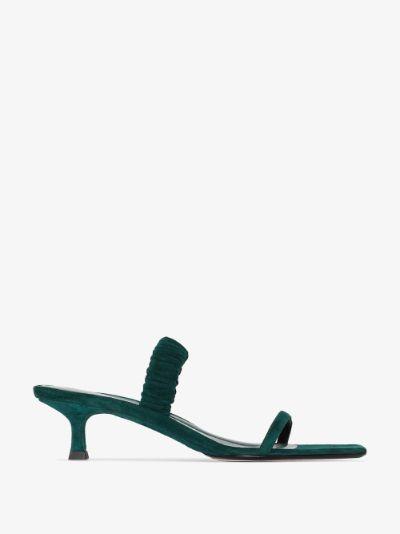 X Browns 50 green Sue 50 suede sandals