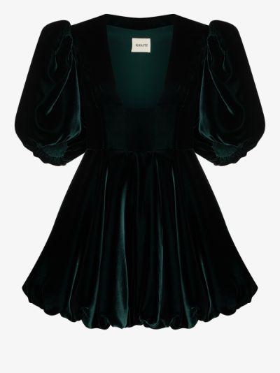 X Browns 50 Leona velvet mini dress
