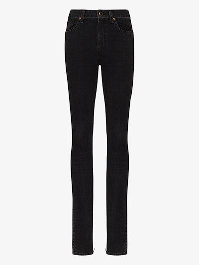 X Browns 50 zip hem skinny jeans
